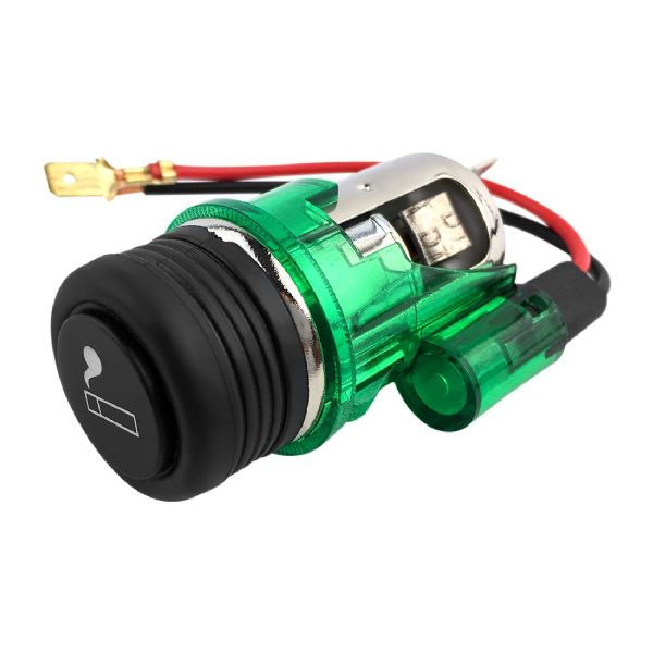 12V Illuminated Cigarette Lighter Green